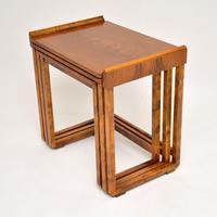 Original Art Deco Figured Walnut Nest of Tables (5 of 11)