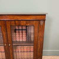 Quality Victorian Rosewood Antique Glazed Display Cabinet / Bookcase (7 of 9)