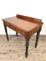 Antique Victorian Mahogany Two Drawer Side Table (7 of 15)