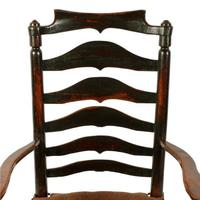Georgian Elm Macclesfield Arm Chair (8 of 8)