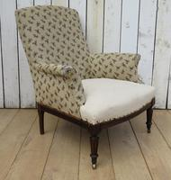 Shapely Antique Napoleon III Armchair for Re-upholstery (8 of 8)