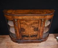 Victorian Antique Credenza Cabinet Bow End 1860 (7 of 8)