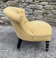 Small Antique Victorian Upholstered Salon Chair (10 of 17)