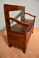 Early Nineteenth Century French Cherry Wood Bench (2 of 7)