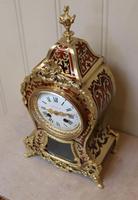 French Tortoiseshell & Brass inlay Mantel Clock (14 of 14)