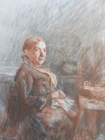 Victorian pastel portrait of grand mam artist Dodd (Free shipping to Mainland England)