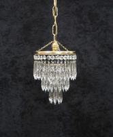 Italian  Art Deco 3 Tier Crystal Glass Chandelier