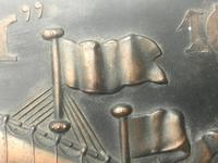 Antique Art Nouveau Marine Bronze Relief Wall Plaque Spanish Galleon Ship 1668 (5 of 21)