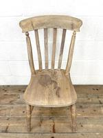 Set of Four Slat Back Antique Kitchen Chairs (5 of 10)
