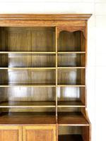 Large 19th Century Antique Oak Bookcase (6 of 11)