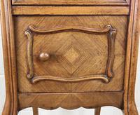French Walnut & Marble Bedside Cupboard (6 of 15)