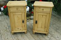 Exceptional Quality Pair of Old Stripped Pine Bedside Cabinets (2 of 9)