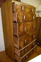 Large Art Deco Six Drawer Chest of Drawers (8 of 10)
