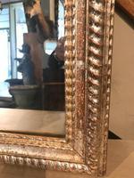 19th Century French Restauration Period Silver Ripple Edge Mirror (3 of 4)
