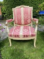 Pair of Large Painted Armchairs (4 of 9)