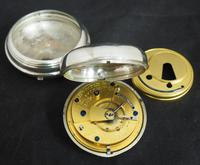 Antique Silver Pair Case Pocket Watch Fusee Lever Escapement Key Wind Silver Huntly & Losstemouth – A SimpsonAntique Silver Pair Case Pocket Watch Fusee Lever Escapement Key Wind Silver Huntly & Losstemouth – A Simpson (7 of 11)