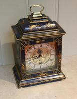 Small Blue Chinoiserie Bracket Clock (7 of 11)