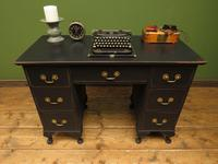 Antique Black Painted Writing Desk, Gothic Shabby Chic (9 of 18)