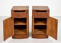 Pretty Pair of Walnut Art Deco Bedside Cabinets (2 of 7)
