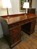 English Holland & Sons  Kneehole Desk (8 of 9)