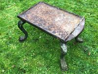 French 18th Century Georgian Grand Tour Garden Cast Iron Plinth Table Claw Feet (33 of 33)