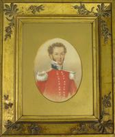 Good Antique Military Officer Portrait Painting (2 of 6)