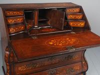 Antique Dutch Marquetry Bombe Bureau (4 of 15)