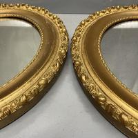 Pair of French Oval Gilt Mirrors (2 of 5)