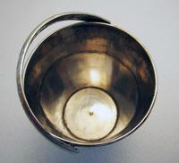 Beautiful Antique Persian Islamic Middle Eastern CREAM PAIL Solid Silver Small Cup Beaker Basket c.1910 (2 of 5)