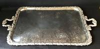 Large Silver Plated Butlers Tray (3 of 4)
