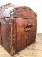 Large Leather Bound Dome Top Trunk (13 of 15)