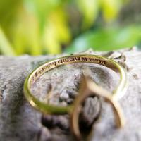 Vintage 18ct Gold Wishbone Ring from 1945 (2 of 5)