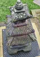 Weather Worn Tall Cast Pagoda Garden Ornament (6 of 8)