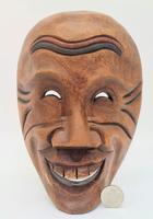 Antique Japanese Gigaku Noh Mask Taikofu c.1920