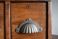 Vintage Mid Century Industrial Oak Bank of Two Drawers (4 of 10)