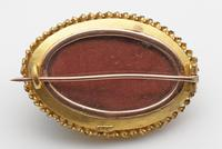 Victorian 15ct Gold Brooch with Cannetille Detail, Turquoise & Diamond (2 of 3)