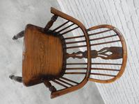 19th Century Windsor Lowback Armchair (3 of 7)