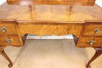 Antique Burr Walnut, Triple Mirror Shaped Dressing Table (9 of 12)