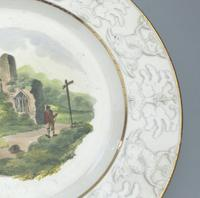 Good Staffordshire Pottery Painted Hand Painted Plate by Wilson c.1810 (4 of 6)