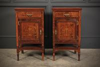 Marquetry Inlaid Rosewood Bedside Cabinets (2 of 13)