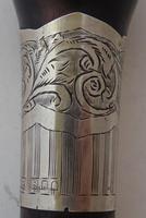 Walking Stick Cane 1925 Hallmarked Solid Silver Collar Macassar Ebony Shaft (7 of 11)