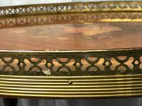 Italian Vintage 20th Century Marquetry Oval Champagne Drinks Server Trolley (13 of 14)