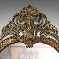 Large Antique Wall Mirror, Italian, Gilt Metal, Hall, Bedroom, Rococo, Victorian (5 of 12)