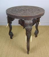 Anglo Indian Carved Elephant Table Early 20th Century (8 of 11)