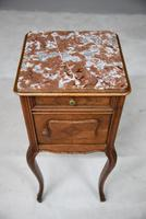French Marble Top Bedside Cabinet 6121646 (7 of 12)