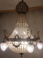 20th Century French Stags Head Ornate Chandelier (2 of 13)