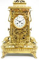 Monumental French Ormolu Mantel Clock Huge Classic 8 Day Striking Mantle Clock (13 of 14)