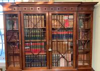 Late Victorian Mahogany 4 Door Library Bookcase (3 of 13)
