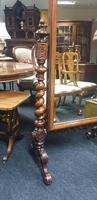 Victorian Walnut Cheval Dressing Mirror (5 of 5)