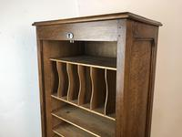 Antique French Tambour Fronted Oak Filing Cabinet (7 of 10)